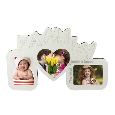 Family Crystal MDF Photo Frame