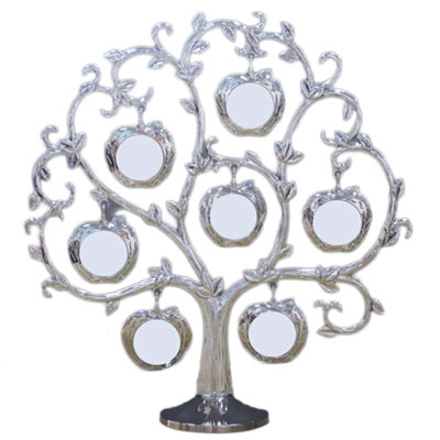 Silver Apple Family Tree Photo Frame