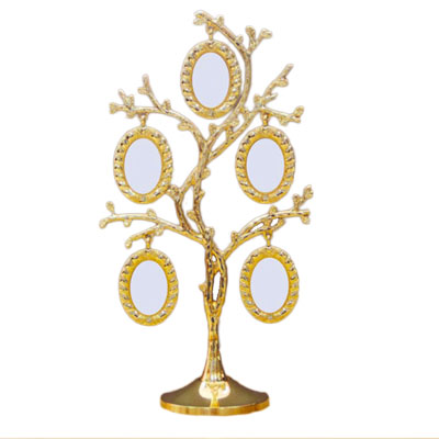 Gold Oval Family Tree Picture Frame
