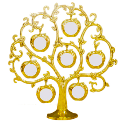 Gold Apple Family Tree Photo Frame