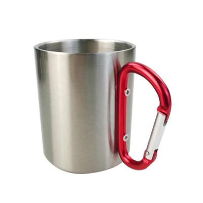 300ml Sublimation Stainless Steel Mug with Carabiner