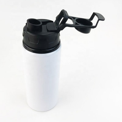 600ml Sublimated Thermal Aluminium Water Bottle with color cap
