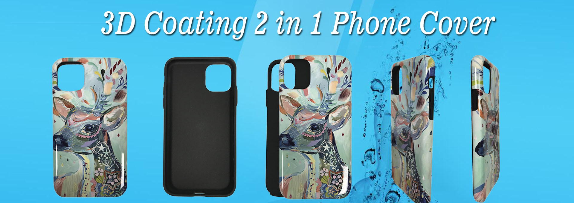 3D Coating 2 in 1 Phone Cover