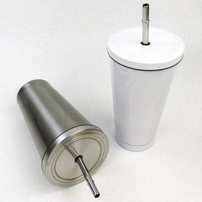 Sublimation 550ML Stainless Steel Straw Cup