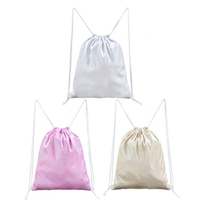Sublimation Glitter Polyester Drawstring Bag
