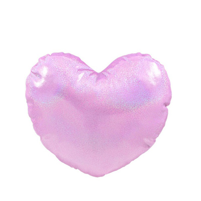 Sublimation Polyester Glitter Heart Shaped  Pillow Cover