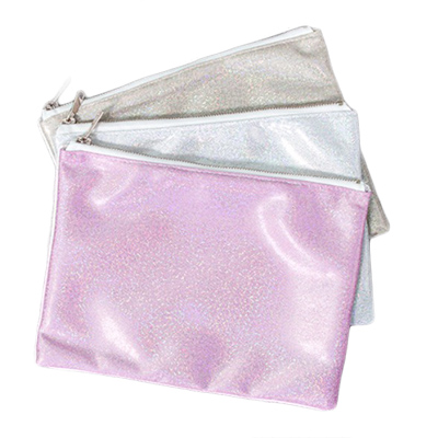 Sublimation Glitter polyester  makeup bag