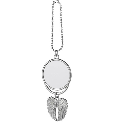 Sublimation angel wing jewelry car ornament pendant