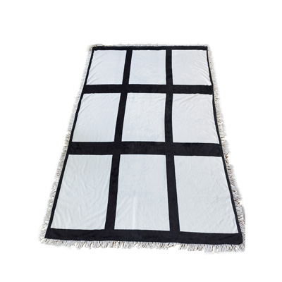 "customized 59.1""x78.7"" 150x200cm 20 panel sublimation  flannel blanket"