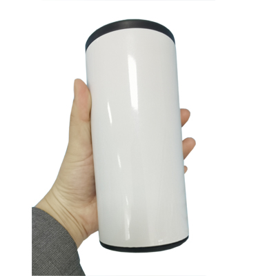 12oz white sublimation photo can mug cooler